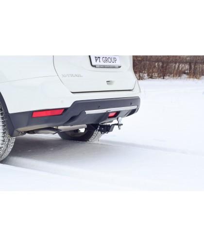 Фаркоп на Nissan X-Trail T32 2014-  (легкосъемный шар под квадрат)
