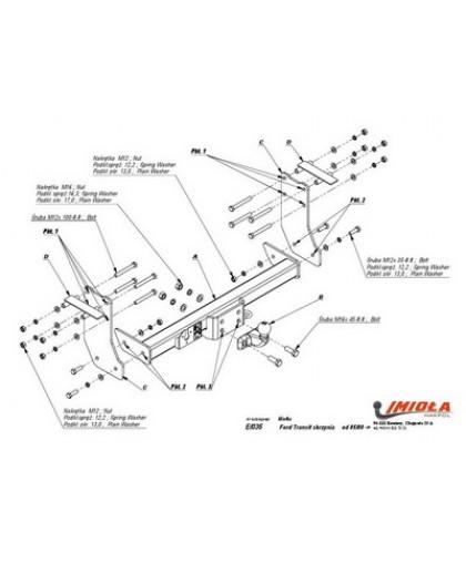 Фаркоп Imiola E.035 для Ford Transit шасси бортовой